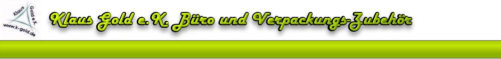 Klaus Gold e.K. Büro und Verpackungszubehör, Versandkartons, Versandtaschen, Klebebänder, Beutelverschluss-Logo